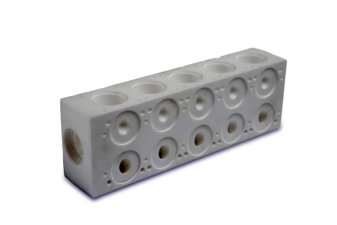 PTFE Machined part - manifold