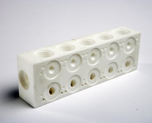 PTFE Machined part - manifold