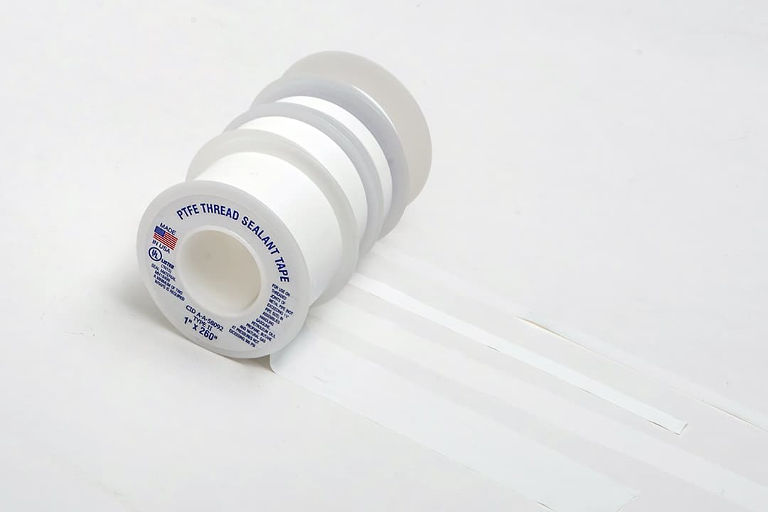 Thread sealant tapes from above