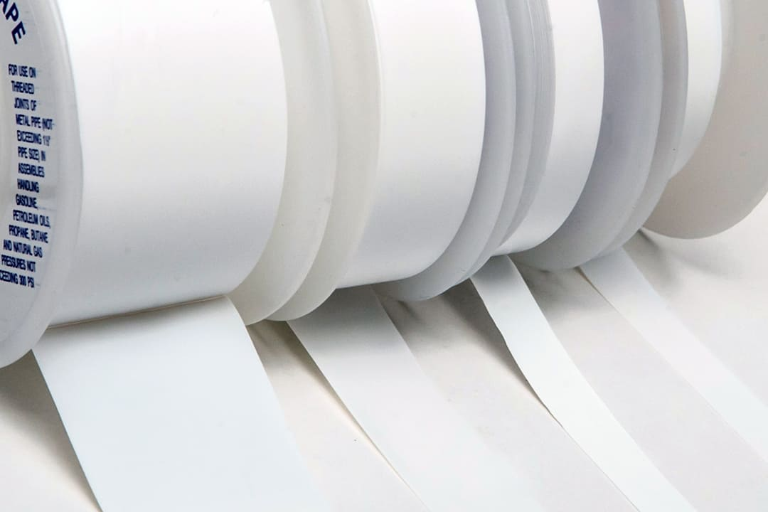Thread sealant tapes close up