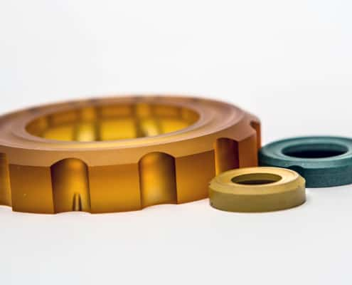 Machined parts plastics other than PTFE