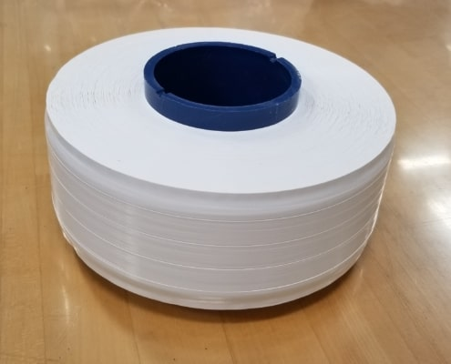 white unsintered ptfe tape - step-pack wound