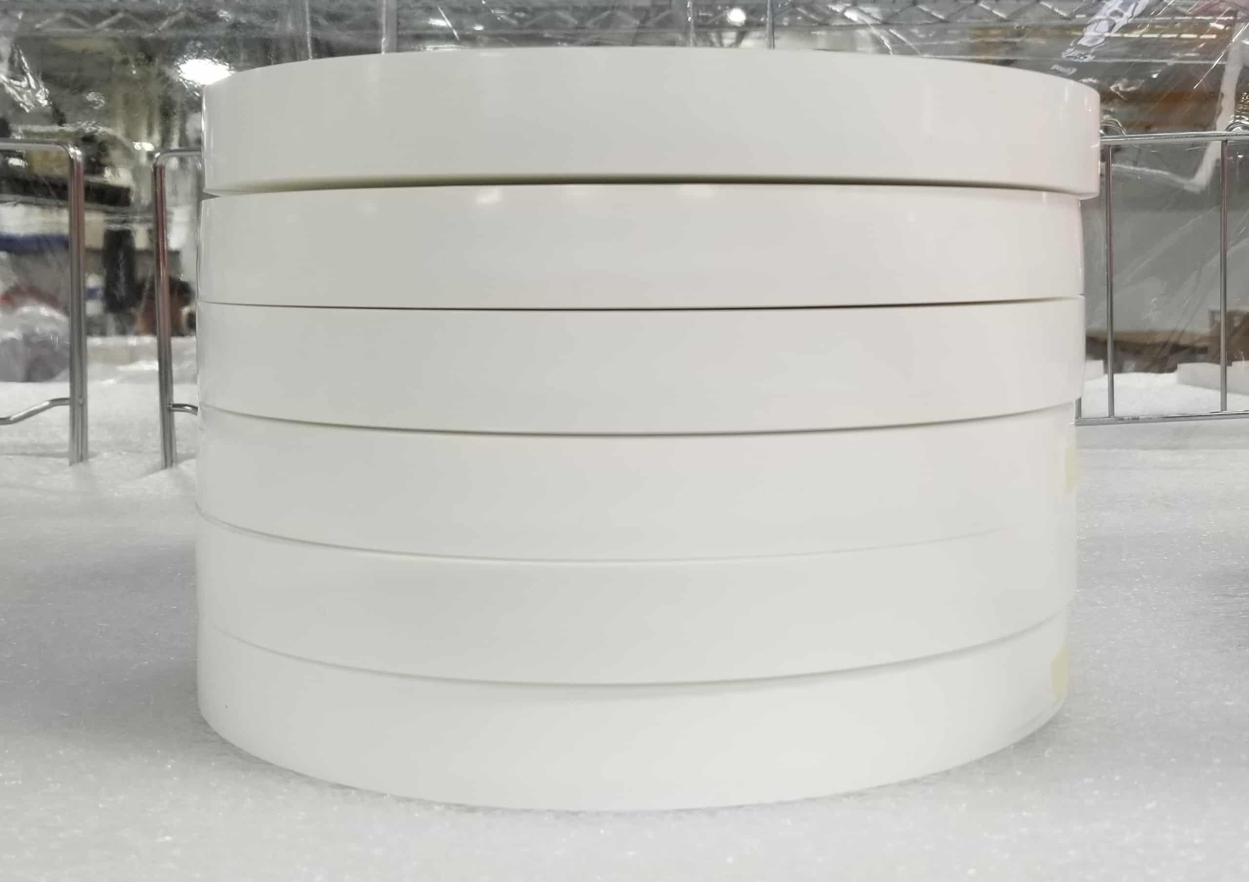 white unsintered ptfe tape - flat pads